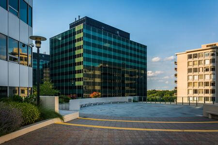 rosslyn: Freedom Park and modern buildings in Rosslyn, Arlington, Virginia.