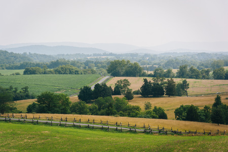 battlefield: View of Antietam National Battlefield, Maryland.