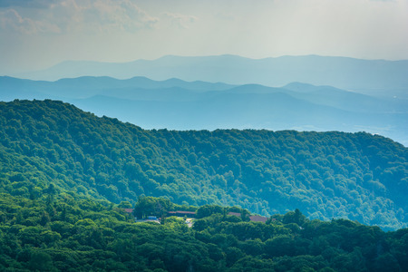 blue ridge: View of the Blue Ridge Mountains from Stony Man Mountain in Shenandoah National Park, Virginia.