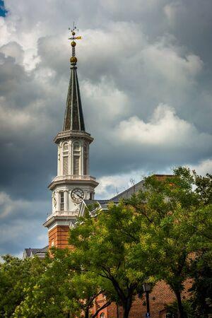 alexandria: Steeple of City Hall, in Alexandria, Virginia.