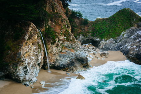 mcway: View of McWay Falls, at Julia Pfeiffer Burns State Park, Big Sur, California.
