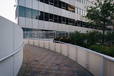 rosslyn: Walkway and modern building in Rosslyn, Arlington, Virginia.