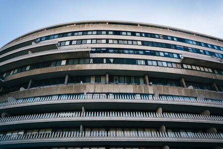 dc: The Watergate Hotel, in Washington, DC. Stock Photo