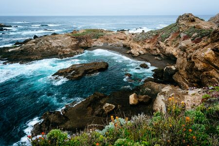 state of mood: View of a cove at Point Lobos State Natural Reserve, in Carmel, California.