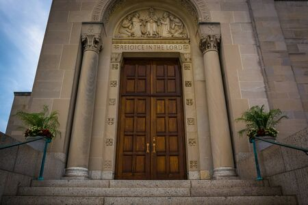 immaculate conception: Entrance to the Basilica of the National Shrine of the Immaculate Conception, in Washington, DC.