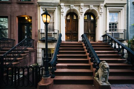 chelsea: Steps to apartment buildings in Chelsea, Manhattan, New York. Editorial