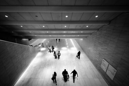 concourse: The World Trade Center West Concourse in Lower Manhattan, New York. Editorial