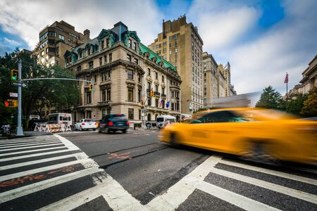 Intersection of 5th Avenue and 84th Street in the Upper East Side, Manhattan, New York.