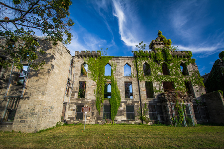 smallpox: Ruins of the Smallpox Hospital, on Roosevelt Island, in Manhattan, New York.