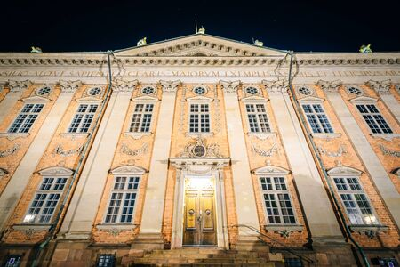 nobility: The House of Nobility, Riddarhuset, at night, Galma Stan, Stockholm, Sweden.