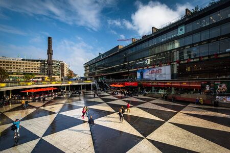 View of Sergels torg, in Norrmalm, Stockholm, Sweden.