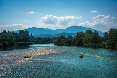 The Sacramento River, seen in Redding, California.