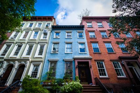 chelsea: Apartment buildings in  Chelsea, Manhattan, New York. Stock Photo