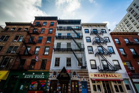チェルシーは、ニューヨークのマンハッタンで 9 th アベニューに建物。 写真素材 - 45996847