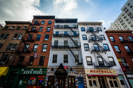 chelsea: Buildings on 9th Avenue in Chelsea, Manhattan, New York. Editorial