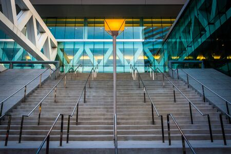 Modern architecture at the Convention Center, in downtown Baltimore, Maryland.