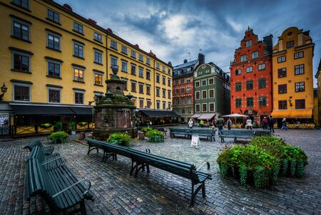 stan: Stortorget, in Galma Stan, Stockholm, Sweden. Stock Photo