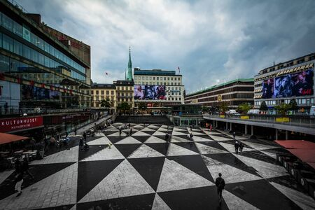 norrmalm: View of Sergels torg, in Norrmalm, Stockholm, Sweden.