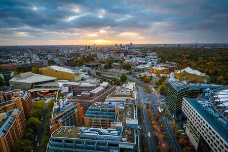 escalate: Sunset view near Potsdamer Platz, in Berlin, Germany.