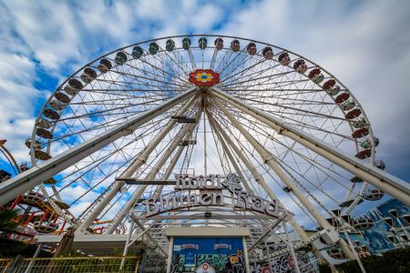 prater: Ferris wheel at Prater, in Vienna, Austria. Editorial