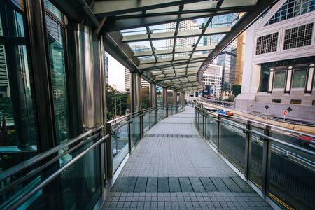 elevated walkway: Elevated walkway at Central, in Hong Kong, Hong Kong. Editorial