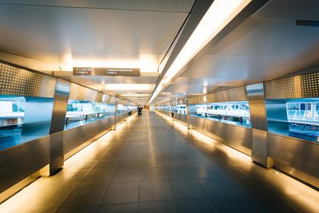 elevated walkway: Elevated walkway at Central, in Hong Kong, Hong Kong. Stock Photo