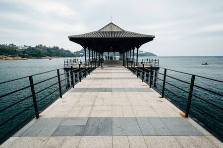 stanley: The Blake Pier at Stanley, on Hong Kong Island, Hong Kong. Stock Photo