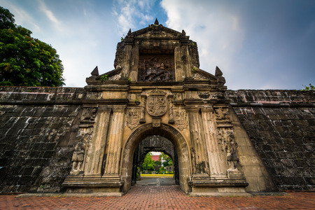 Entrance to Fort Santiago, in Intramuros, Manila, The Philippines. Reklamní fotografie