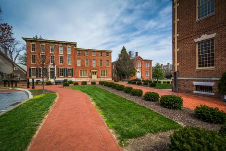 delaware: Historic brick buildings in downtown Dover, Delaware.