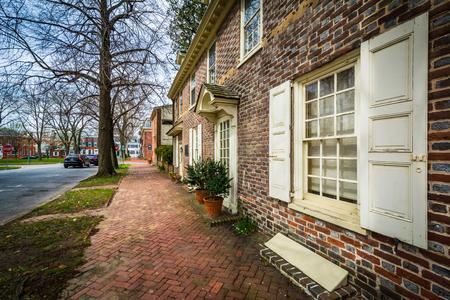 delaware: Historic brick house in Dover, Delaware.