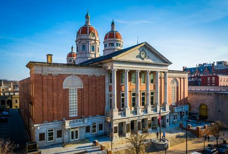Uitzicht op de York County Courthouse, in York, Pennsylvania.