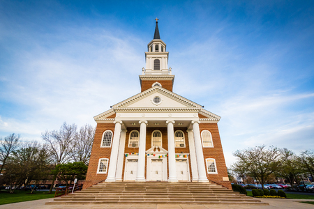 frederick: The Coffman Chapel at Hood College, in Frederick, Maryland. Stock Photo
