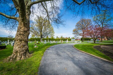 frederick: Road at Mount Olivet Cemetery in Frederick, Maryland.