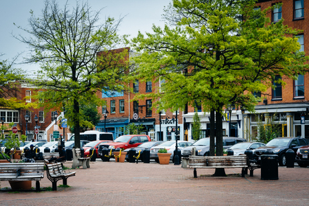 fells: Park and buildings in Fells Point, Baltimore, Maryland. Editorial