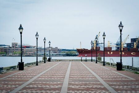 fells: Pier in Fells Point, Baltimore, Maryland.