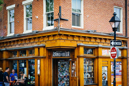 maryland: Bar in Fells Point, Baltimore, Maryland.