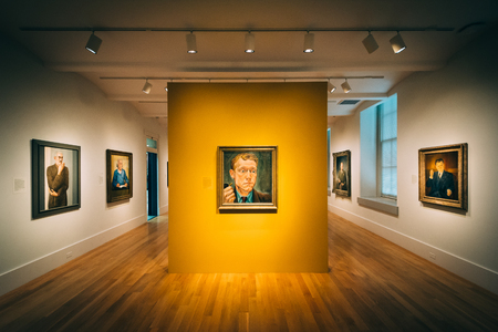 Room in the National Portrait Gallery at the Smithsonian American Art Museum, in Washington, DC. Editorial