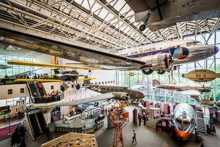 The interior of the National Air & Space Museum in Washington, DC. Editorial