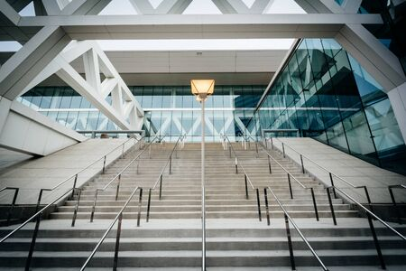 The exterior of the Convention Center, in Baltimore, Maryland.