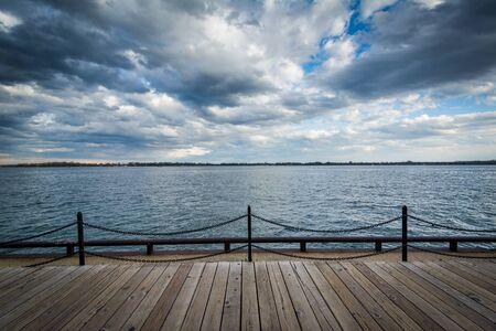ontario: View of Lake Ontario at the Harbourfront in Toronto, Ontario.