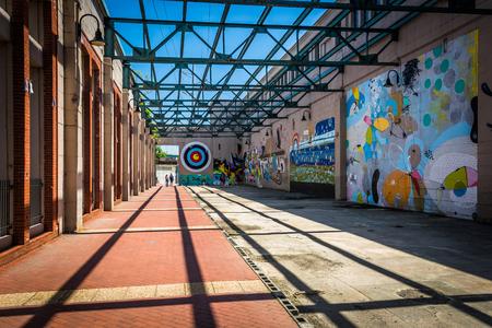 murals: Colorful murals in Richmond, Virginia. Editorial