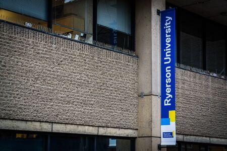 ontario: Ryerson University Sign, in Toronto, Ontario.