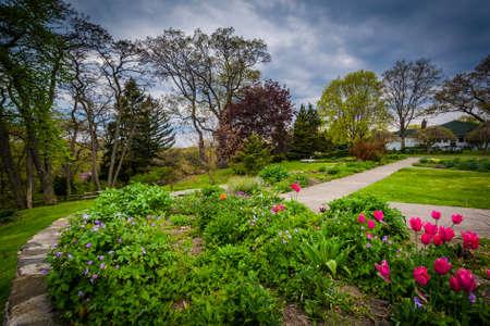 high park: Gardens at High Park, in Toronto, Ontario. Stock Photo