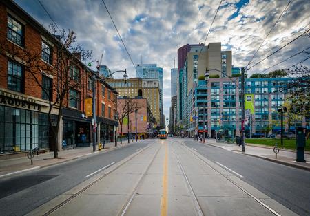 king street: King Street East, in Toronto, Ontario.