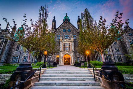 The Trinity College Building at the University of Toronto, in Toronto, Ontario.