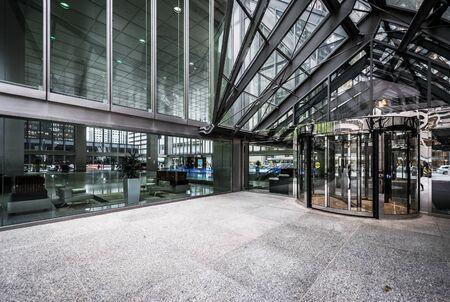 financial district: Modern facade in the Financial District, in Toronto, Ontario.