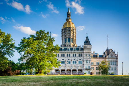The Connecticut State Capitol Building in Hartford, Connecticut. Stock Photo - 59003236