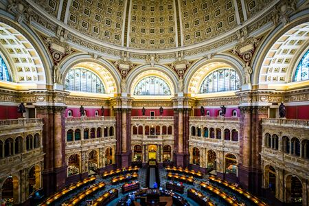 View of the Main Reading Room at the Library of Congress, in Washington, DC.