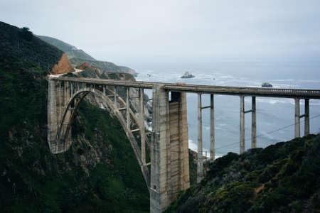 bixby: View of Bixby Creek Bridge, in Big Sur, California.