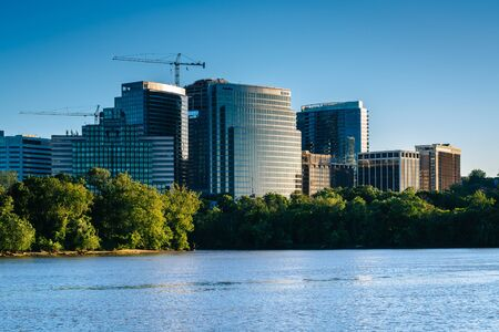 rosslyn: View of the Rosslyn skyline from Georgetown Waterfront Park, in Washington, DC.